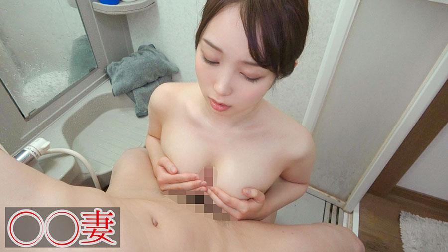 【◯◯妻】ナマが大好きな超爆乳Iカップの専業主婦(27)との中出しSEX動画