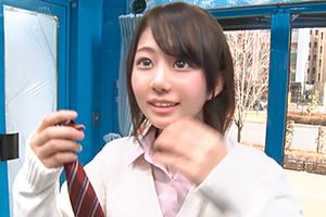 【マジックミラー号】下着メーカーの調査で見つけた美少女JKにおっぱいマッサージ!
