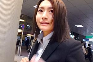 【ナンパTV】あまりの名器に男優巨根が暴発して顔射された美人就活生(21)とのSEX動画