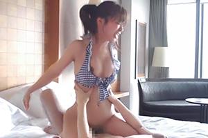 【S-Cute あやね遥菜】海水浴後のホテルで水着美少女と着衣SEX