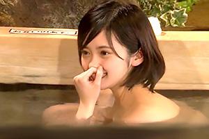 【素人】卒業旅行で訪れた箱根温泉で女子大生がHなミッションに挑戦!