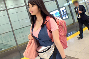 【ナンパTV】新幹線ホームでナンパしたムッチリ爆乳女性(22)とのSEX動画 in品川駅