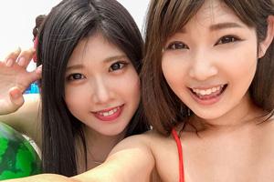 【ナンパTV】湘南の海でナンパしたビキニGAL二人組をお持ち帰りした真夏の4PSEX動画