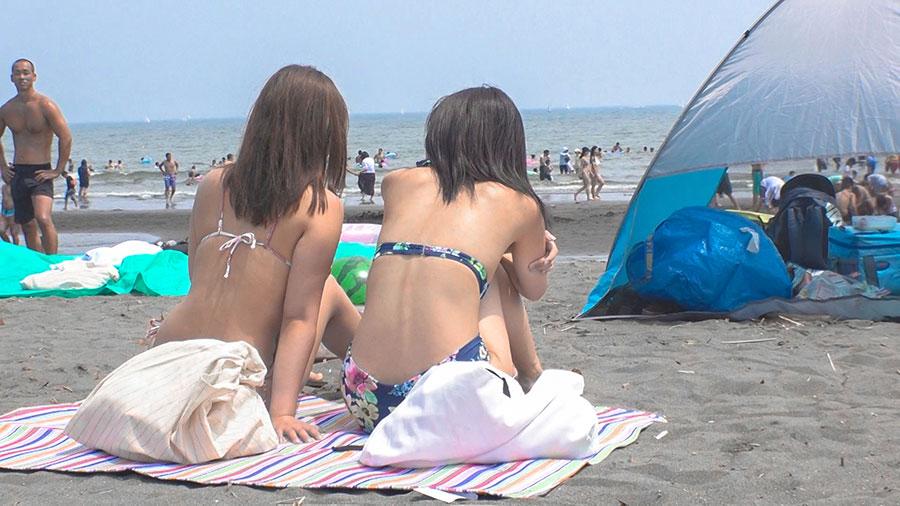 【パリピ水着ギャル・海ナンパ!】真夏のビーチでGETした開放感MAXのビキニGAL2人組!言葉巧みにホテルに連れ込んで、理性も吹っ飛ぶアツ~い本能とろけるSEX!