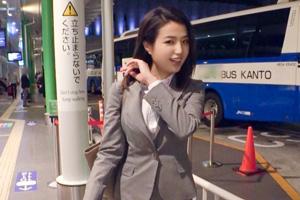 【ナンパTV】バスターミナルでナンパした製薬会社の美人営業OL(23)とのSEX動画