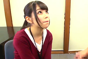 【SOD女子社員】相沢さつき 入社1年目の美人OLが足コキ