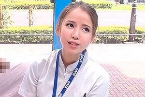 【マジックミラー号】関西弁の可愛い新人ナースに生中出し!