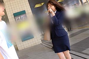 【ナンパTV】ビジネススーツがエロい渋谷で営業中の爆乳美人OL(20)とのSEX動画