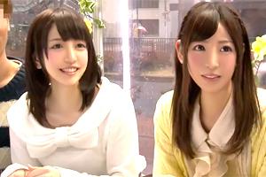 【マジックミラー号】神カワ彼女を友達同士でチェンジ!女子大生のスワッピング乱交