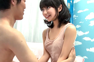 【マジックミラー号】キスだけで射精しそうな純朴童貞の筆下ろしをする美少女!