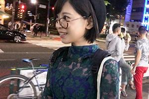 【ナンパTV】yo◯tu◯eの企画のテイでナンパしたメガネ美人女子大生(19)とのSEX動画