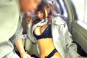 【素人 盗撮】ドライブレコーダーが隠し撮りした巨乳若妻のカーセックス映像
