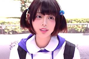 【マジックミラー号】可愛いアイドルオタクの素人娘に顔射!