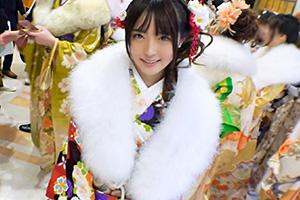 【成人式ナンパ】成人式帰りの豪華な羽織美少女(20)をお持ち帰りした3PSEX動画