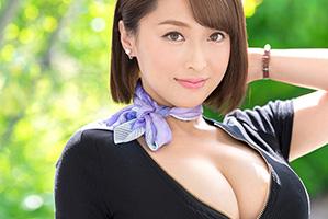 【AVデビュー】元国際線CAの爆乳Gカップ美人妻の3PSEX動画