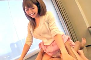【素人】素股で股間を濡らす巨乳女子大生に挿入してやったw