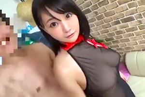 【人妻】透け透けセクシーなコスプレで巨乳を揺らしまくって乱交!