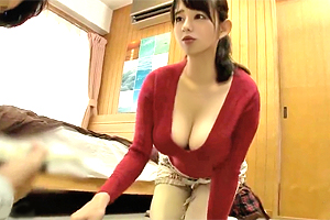 三島奈津子 セックスレスの人妻家政婦が自慢のIカップ巨乳で誘惑!
