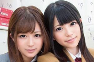 上原亜衣 さとう遥希 潮吹き体質の美少女JKがオマンコ決壊するレズ動画