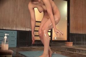 男湯で手マンされた女子大生が男性客とシックスナインしちゃう企画動画