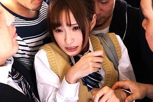 天使もえ 痴漢グループに狙われた美少女JKが電車で集団レイプされる!