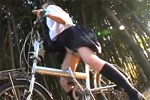 【JK】自転車に媚薬を塗りこまれた女子校生がピクピク痺れだして発情