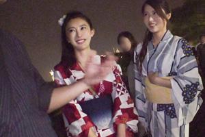 【ナンパTV】横浜みなとみらいの花火大会でゲットした浴衣美女のSEX動画
