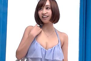 【マジックミラー号】明るくて可愛い水着美少女が童貞筆下ろし!