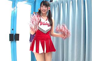【マジックミラー号】女子大生チアガールが年上男性のSEXを応援!