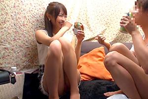【素人】女友達で勃起しなければ賞金100万円。あえなく撃沈・・・