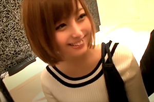 【素人】Gカップ巨乳のカフェ店員を口説いてホテルでハメ撮り成功!