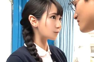 【マジックミラー号】三つ編みのアイドル系ナースが恋人感覚で早漏改善SEX!
