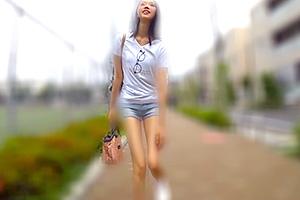 【素人】美脚サイコー!スラリと伸びたモデル体型の女子大生を口説き落とす
