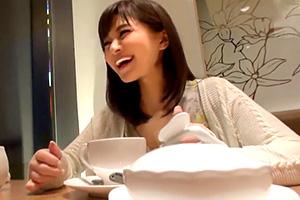 【素人】街でナンパした最高級美女をカフェで口説いてなんとかホテルへ!