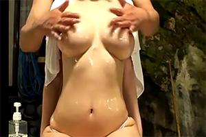 【マッサージ】むっちり巨乳人妻が訪れた温泉宿で浮気セックス
