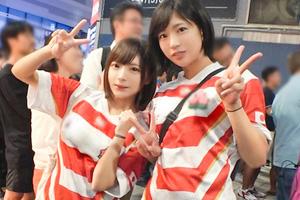 【ナンパTV】ラグビーで盛り上がる美少女2人を新宿でゲットして乱交したSEX動画