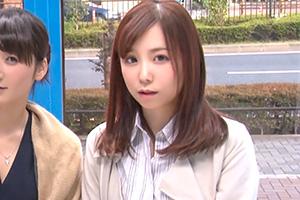 【マジックミラー号】デザイナーと編集長のセレブ人妻コンビを乳首マッサージ!