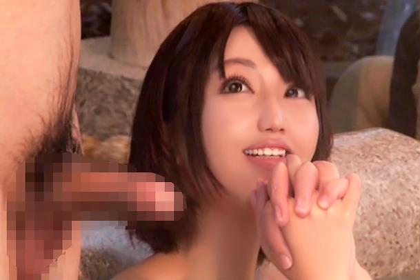 【寝取られ】愛する妻が他人とヤッてる…。NTR混浴温泉で中出し