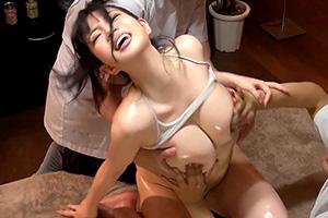 斉藤みゆ 乳腺オイルマッサージで痙攣イキが止まらない巨乳JD