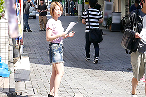 椎名そら 地元の駅前で集めた男たちとほぼほぼ中出し