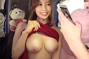 篠田ゆう 「撮るだけでイイの?」巨乳美女がヤリマンワゴンで逆ナンパ旅!