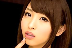 秋山祥子 ぷるんっとした唇がたまらん。フェラと手コキでイカす美女