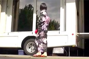 【続・マジックミラー号】MM号でエッチした直後の浴衣美少女を痴漢バスで追撃SEX!