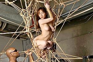篠田ゆう エロというよりもはや芸術!緊縛された美巨乳美女と黒人の共同アート作品!