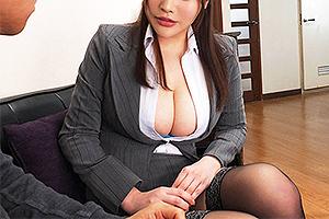 益坂美亜 スーツからはみ出しまくりの超乳セールスレディ!媚薬オイルを塗り込まれ絶頂アクメw