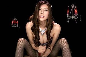 椎名ゆな キャバ嬢みたいなドレス姿の痴女が淫語でザーメン絞り!