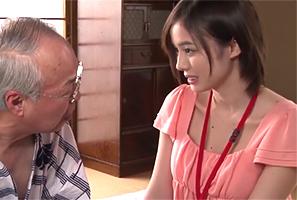 新人介護士・吉川あいみ 変態老人のためにたわわなHカップを…