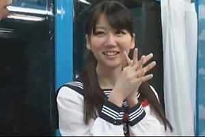 【マジックミラー号】アイドルみたいな美少女がMM号で初体験を再現!