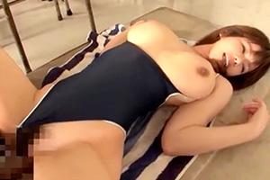 大島あいる バスト101cm・Iカップ爆乳のスク水美女と着衣SEX