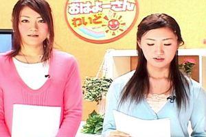 早朝ニュース番組にて女子アナにぶっかけw女子アナ好きの妄想願望がここに!
